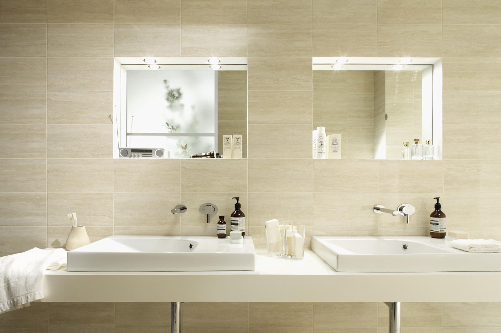 Bagno marrone beige: progettare bagni in stile contemporaneo ...